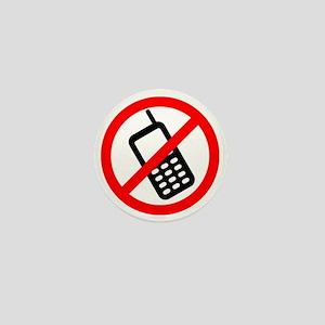 NoCellPhonesf Mini Button
