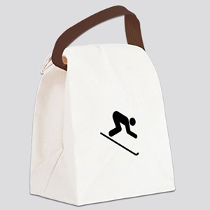 Ski Broke White Canvas Lunch Bag