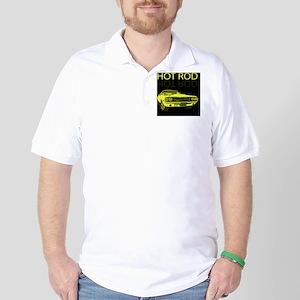 hot_rod_yellow Golf Shirt