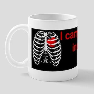 Rib cage heart bumpersticker Mug