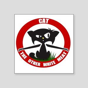 "cattheotherwhitemeat Square Sticker 3"" x 3"""