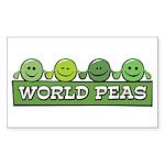 World Peas Rectangle Sticker