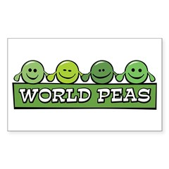 World Peas Rectangle Decal