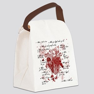 My Broken Heart Canvas Lunch Bag