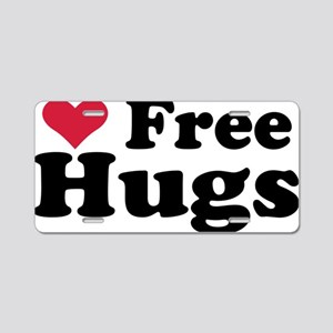free_hugs Aluminum License Plate
