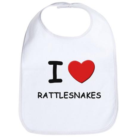 I love rattlesnakes Bib