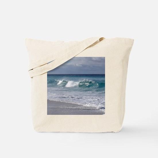 Waves on Friendly Beach Tote Bag