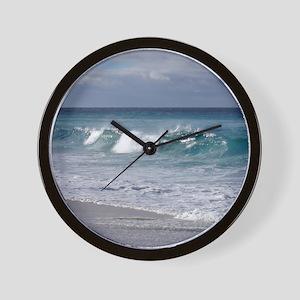 Waves on Friendly Beach Wall Clock