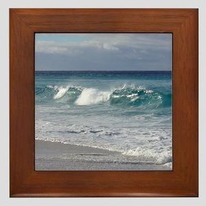 Waves on Friendly Beach Framed Tile