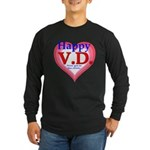 Happy VD Long Sleeve Dark T-Shirt