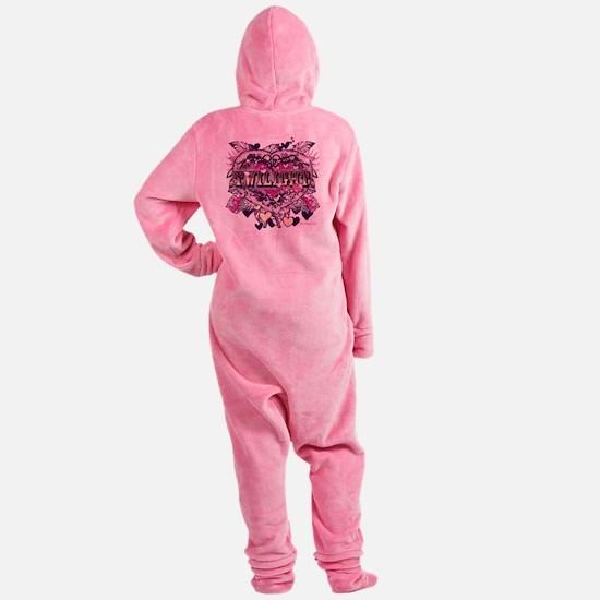 twilight valentine old world heart Footed Pajamas
