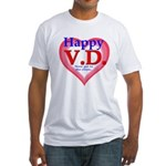 Happy VD Fitted T-Shirt