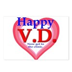 Happy VD Postcards (Package of 8)