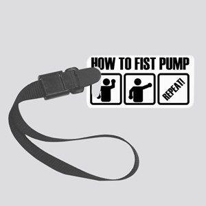 how to fist pump Small Luggage Tag