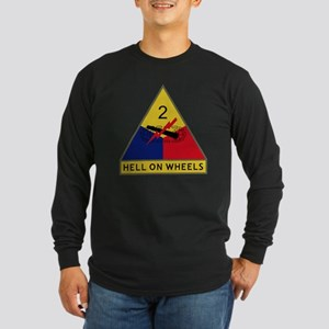 2nd Armored Division - He Long Sleeve Dark T-Shirt