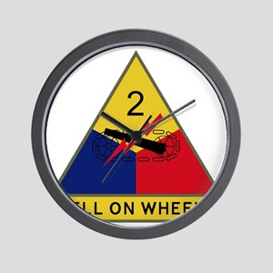 2nd Armored Division - Hell On Wheels Wall Clock