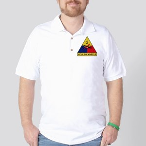 2nd Armored Division - Hell On Wheels Golf Shirt