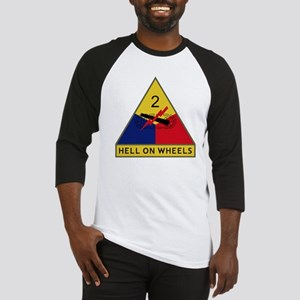 2nd Armored Division - Hell On Whe Baseball Jersey