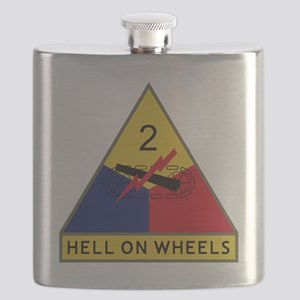 2nd Armored Division - Hell On Wheels Flask