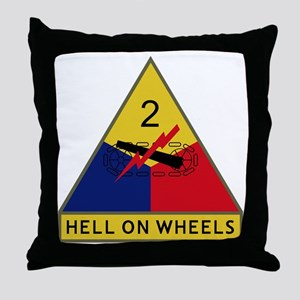 2nd Armored Division - Hell On Wheels Throw Pillow