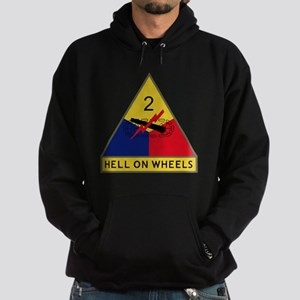 2nd Armored Division - Hell On Wheel Hoodie (dark)