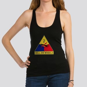 2nd Armored Division - Hell On  Racerback Tank Top
