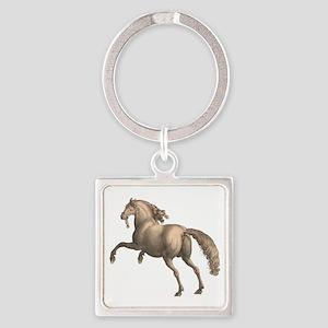 Spanish Horse Square Keychain