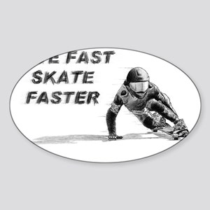 DH_faster Sticker (Oval)