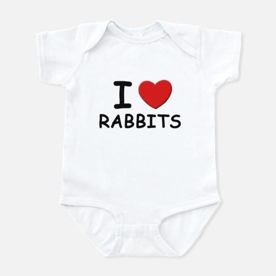 I love rabbits Infant Bodysuit