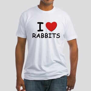 I love rabbits Fitted T-Shirt