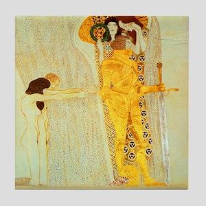 Gustav Klimt Art Tile Coaster The Beethoven Freize