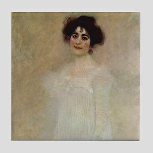 Klimt Art Tile Portrait of Serena Lederer P1of2