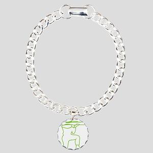 X369A_ArmyManGreen Charm Bracelet, One Charm