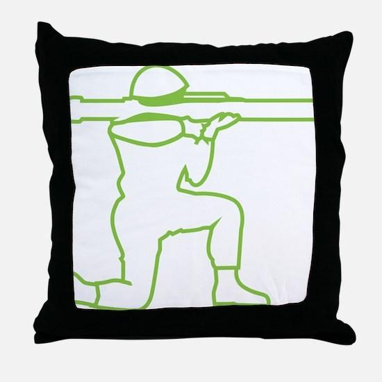X369A_ArmyManGreen Throw Pillow