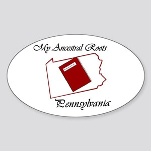 Ancestral Roots Pennsylvania Oval Sticker