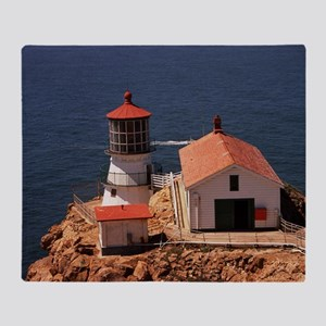Point Reyes Lighthouse Throw Blanket