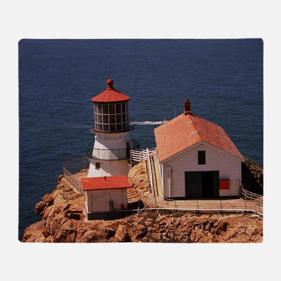 Point Reyes Lighthouse Throw Blanket