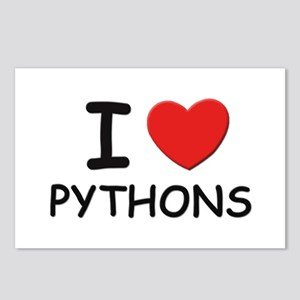 I love pythons Postcards (Package of 8)