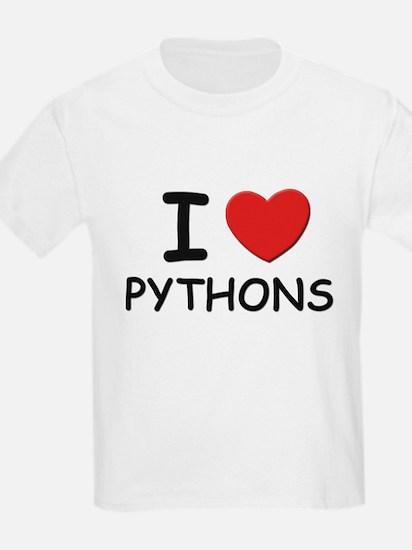 I love pythons Kids T-Shirt