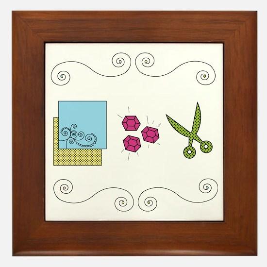 paperrockscissors Framed Tile