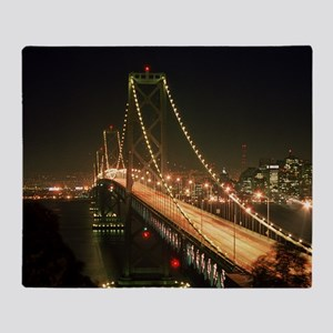 Oakland Bay Bridge Throw Blanket