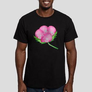 Skull Carnation Men's Fitted T-Shirt (dark)