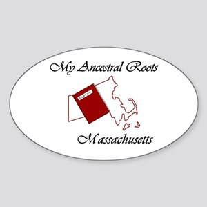 Ancestral Roots Massachusetts Oval Sticker