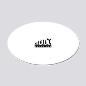 evolution-weightlifting 20x12 Oval Wall Decal