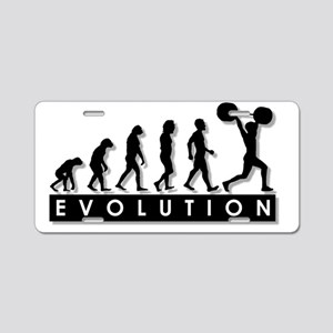 evolution-weightlifting Aluminum License Plate