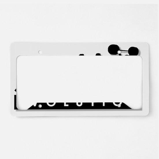 evolution-weightlifting License Plate Holder