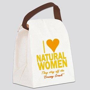 creamy crackorange Canvas Lunch Bag