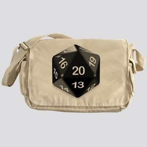 d20 t-shirt Messenger Bag