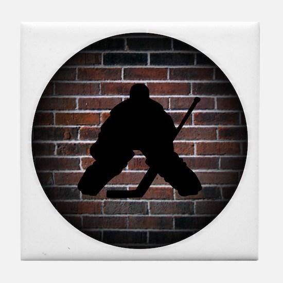Hockey Goalie Tile Coaster