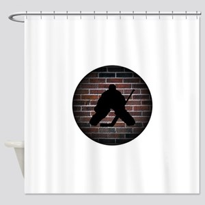 Hockey Goalie Shower Curtain